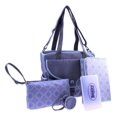Boppy™ Golden Somerset Diaper Bag in Grey/Blue