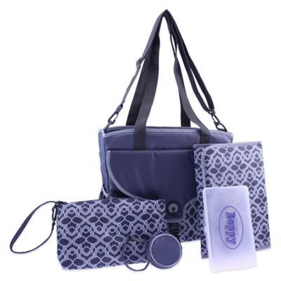 Boppy™ Golden Plaza Tiles Diaper Bag in Grey/Blue