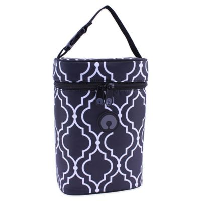 Boppy™ Metro Insulated Double Wide Bottle Bag in Black/White