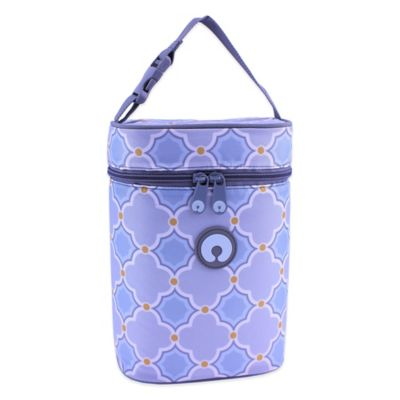 Boppy™ Somerset Insulated Double Wide Bottle Bag in Grey/Blue