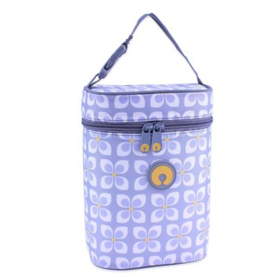 Boppy™ Pinwheel Insulated Double Wide Bottle Bag in Grey/Yellow