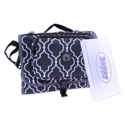 Boppy™ Metro Changing Station with Wipes Case in Black/White