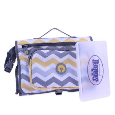 Boppy™ Chevron Changing Station with Wipes Case in Grey/Yellow