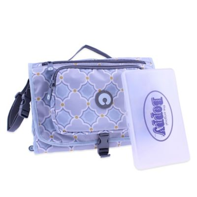 Boppy™ Somerset Changing Station with Wipes Case in Grey/Blue