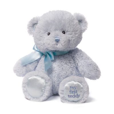 Pretend Play > Gund® My First Teddy 10-Inch Plush Toy in Blue