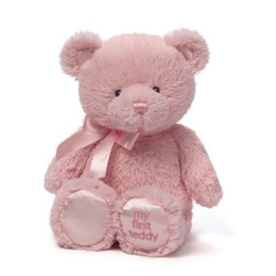 Pretend Play > Gund® My First Teddy 10-Inch Plush Toy in Pink