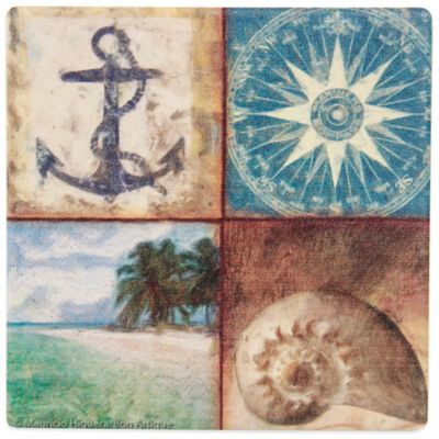 Thirstystone® Coastal Seashore Four-Print Coaster