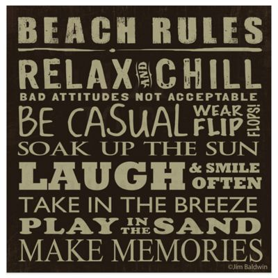 Thirstystone® Beach Rules Dark Coaster