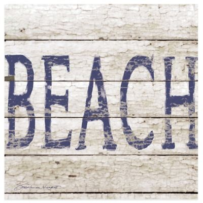 Coastal Beach Sign Coaster
