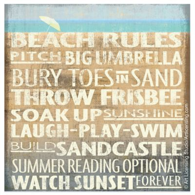 Thirstystone® Coastal Large Beach Rules Coaster