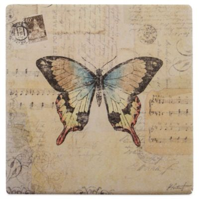 Thirstystone® Square Occasions Butterfly Coaster