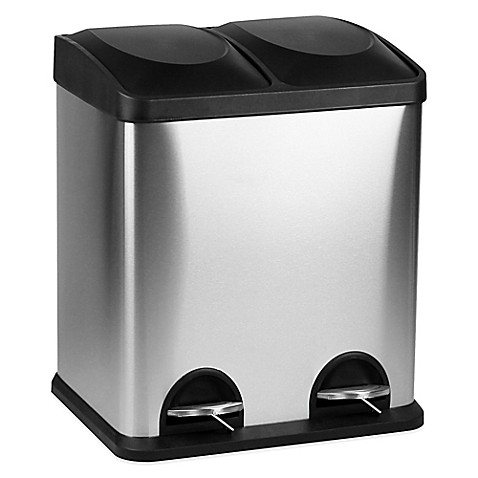buy 60 liter dual recycle bin from bed bath beyond. Black Bedroom Furniture Sets. Home Design Ideas
