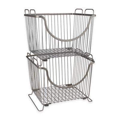 Spectrum™ Large Stackable Basket in Satin Nickel