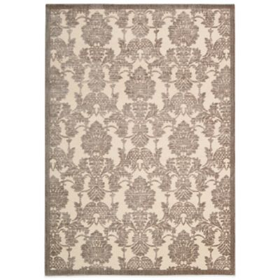 Nourison Graphic Illusions GIL03 7-Foot 9-Inch x 10-Foot 10-Inch Area Rug in Nickel