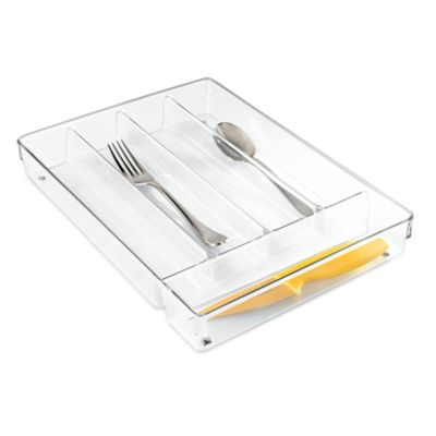 InterDesign® Linus Acrylic Cutlery Tray