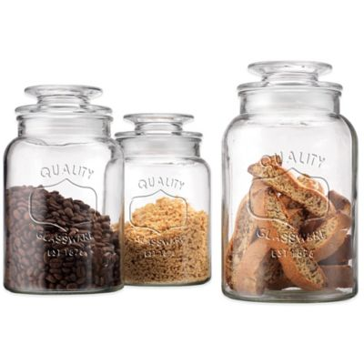 Quality Embossed Canisters (Set of 3)