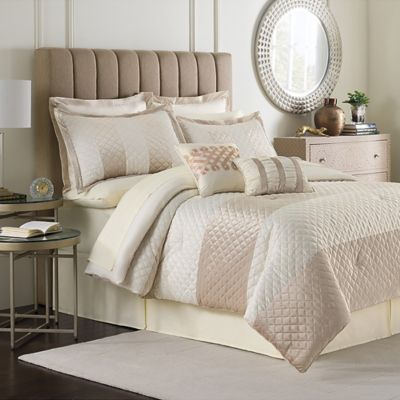 Pearl Stripe 12-Piece Full Comforter Set