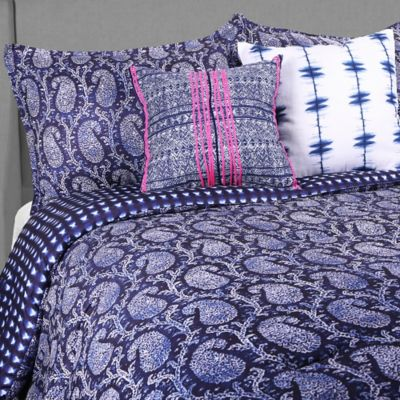 Blink Kamala Reversible 3-Piece Full/Queen Comforter Set in Navy/Blue