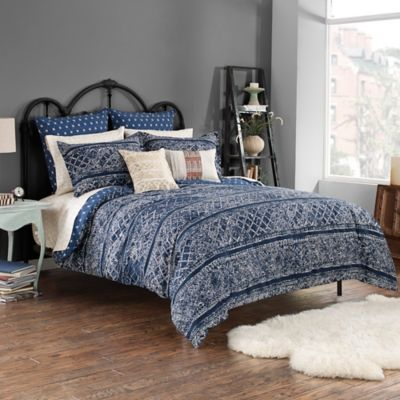 Steve Madden® Lani Reversible King Comforter Set in Indigo