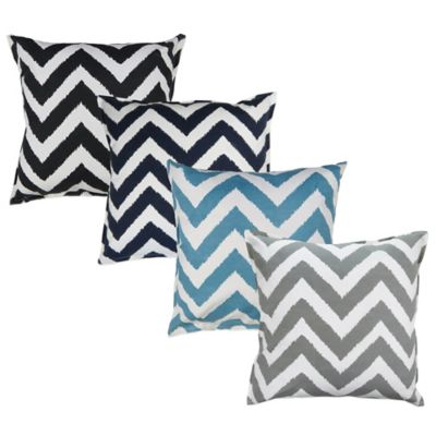 The Vintage House by Park B. Smith® Zig Zag Square Throw Pillow in Black