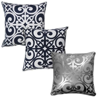 The Vintage House by Park B. Smith® East Gate Square Throw Pillow in White