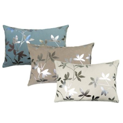 The Vintage House by Park B. Smith® Foil Leaves Square Throw Pillow in Aqua