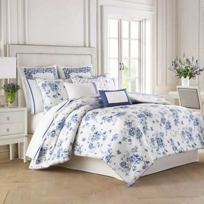 Wedgwood® China Blue Floral Full/Queen Duvet Cover Set