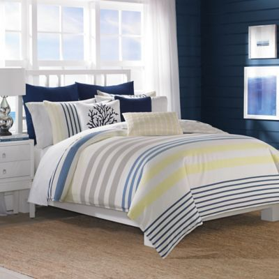 Nautica® Leighton King Duvet Cover Set in Khaki