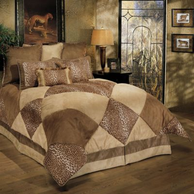 Sherry Kline Safari Park Queen Comforter Set in Taupe