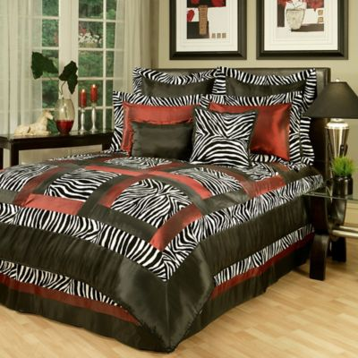 Sherry Kline Jungle King Comforter Set in Black/White
