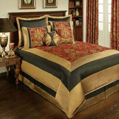 Sherry Kline Milano Queen Comforter Set in Red