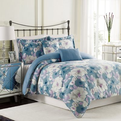 Raymond Waites Mae Queen Duvet Cover Set in Blue