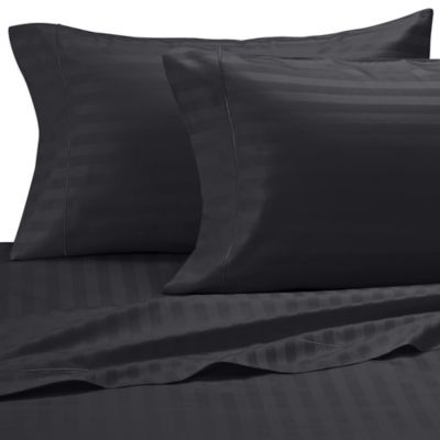 Striped Black King Sheets