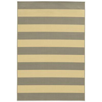 Oriental Weavers Riviera Stripe 1-Foot 9-Inch x 3-Foot 9-Inch Indoor/Outdoor Rug in Grey/Ivory