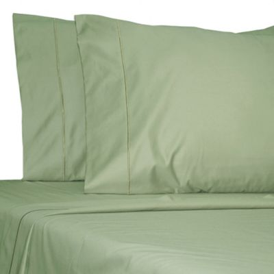 Damask Solid 500-Thread-Count Egyptian Cotton Full Sheet Set in Teal