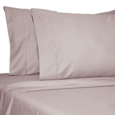 Damask Solid 500-Thread-Count Egyptian Cotton Standard Pillowcase in Lilac (Set of 2)