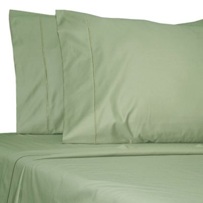 Damask Solid 500 Thread Count Egyptian Cotton Dual King Sheet Set in Teal