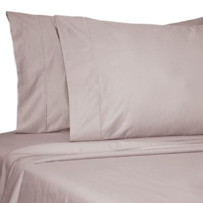 Damask Solid 500 Thread Count Egyptian Cotton Dual King Sheet Set in Lilac