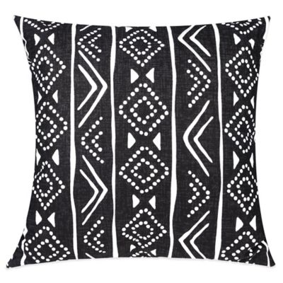 Blink Andi Square Throw Pillow in Black