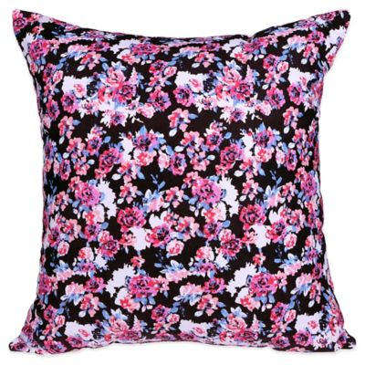 Blink Ryder Ditsy Square Throw Pillow in Black