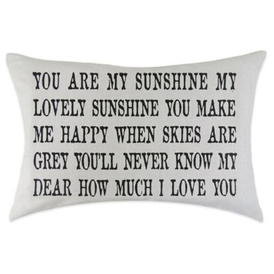 """The Vintage House by Park B. Smith® """"Sunshine"""" Oblong Throw Pillow in Black"""