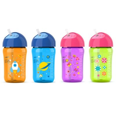 AVENT 2-Pack 12 oz. My Twist n Sip Cup in Purple/Yellow
