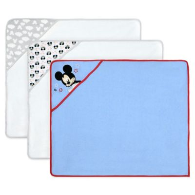 Disney® Mickey 3-Pack Terry Hooded Towel