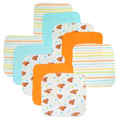 Disney® Nemo 10-Pack Terry Washcloth