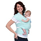Moby® Wrap Classic Modern Baby Carrier in Mint with Moss Stitch