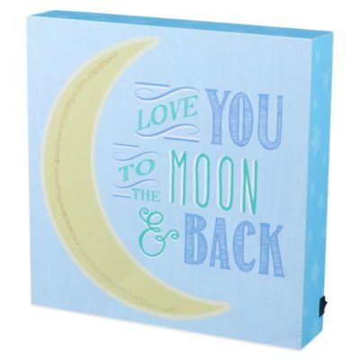 "Grasslands Road® ""Love You to the Moon & Back"" Plaque"