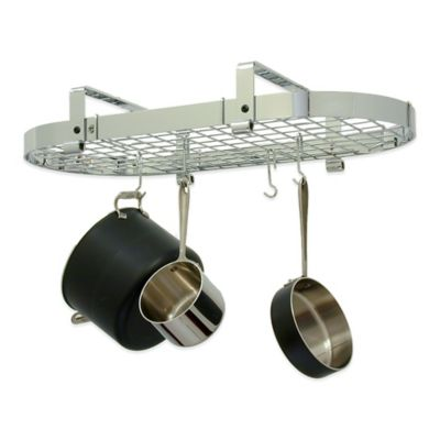 Enclume® Low Ceiling Oval Rack with Grid in Chrome