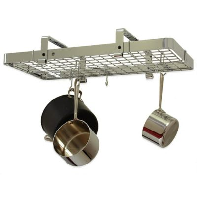 Enclume® Low Ceiling Rectangle Rack with Grid in Chrome