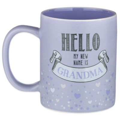 "Grasslands Road® 12 oz. ""Hello, My New Name Is Grandma"" Mug in Lavender"