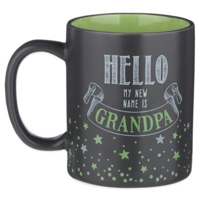 "Grasslands Road® 12 oz. ""Hello, My New Name Is Grandpa"" Mug in Black"
